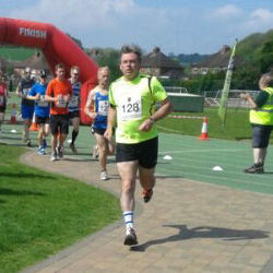Neil Pirie in the Wenlock Olympian Half Marathon 2014